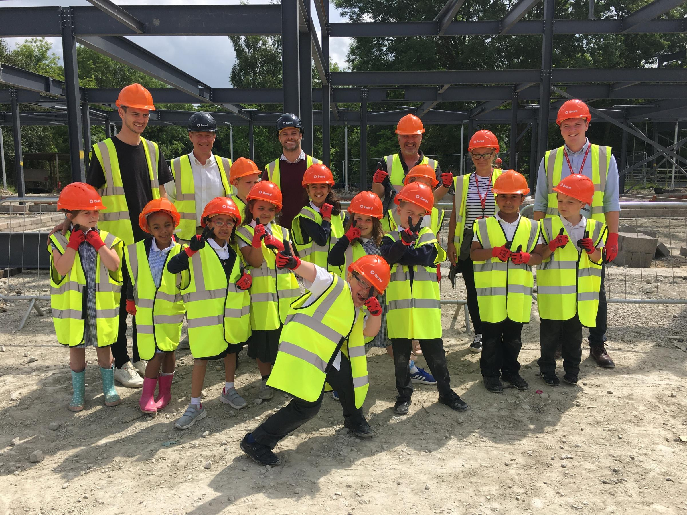 EXCLUSIVE: Pupils from Wood Farm Primary School get an exciting sneak peak the work happening in the new Science Oxford Education Centre development site on Quarry Road.
