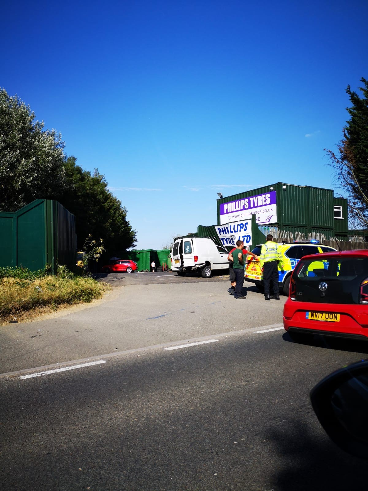 Delays on the A40 following multi-vehicle crash. Picture: Mark Rodgers