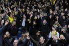 ON THEIR FEET: Oxford United fans