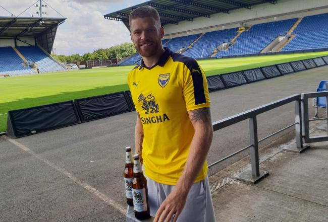 Jamie Mackie at the Kassam Stadium this afternoon  Picture: Oxford United