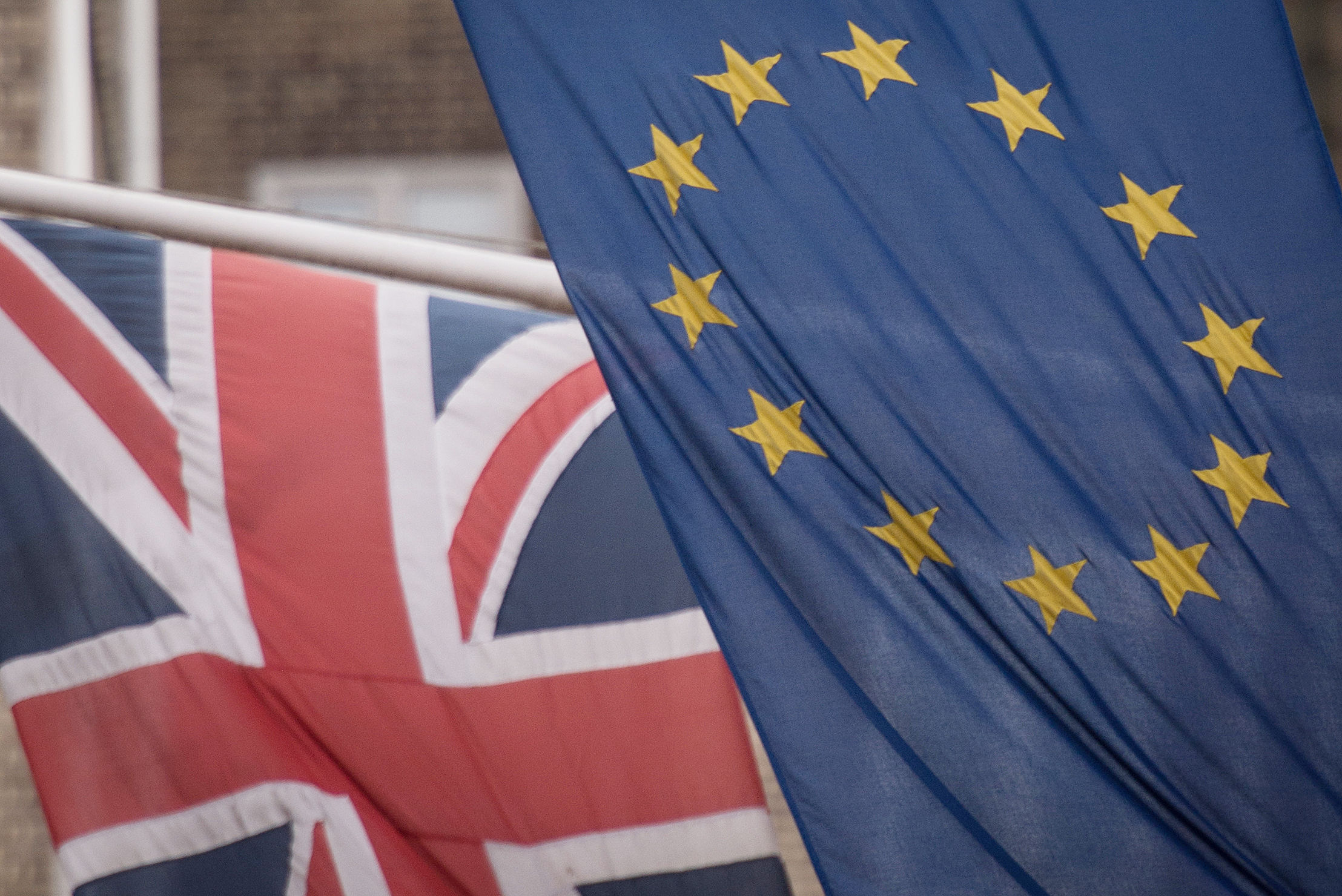 File photo dated 17/2/2016 of the EU and Union flags. Theresa May's Brexit difficulties will continue as she faces a grilling by MPs about her plans for leaving the European Union. PRESS ASSOCIATION Photo. Issue date: Wednesday July 18, 2018. The Prim