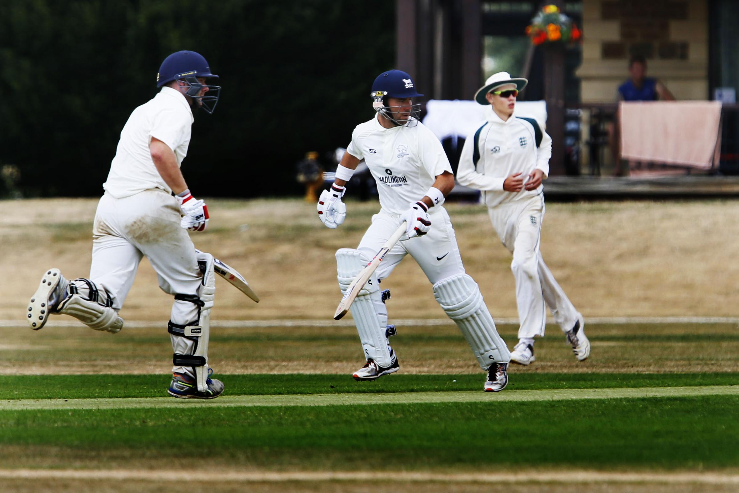 IN THE RUNS: Harry Smith (left) and Richard Kaufman add to their tally in Oxfordshire's win over Dorset earlier this month. The duo will be hoping for more of the same when Oxon host Wales this weekendPicture: Ed Nix