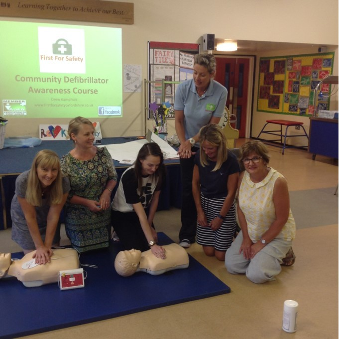 VITAL: Stonesfield pre-school staff with Drew Kamphuis during the training Picture: Stonesfield pre-school