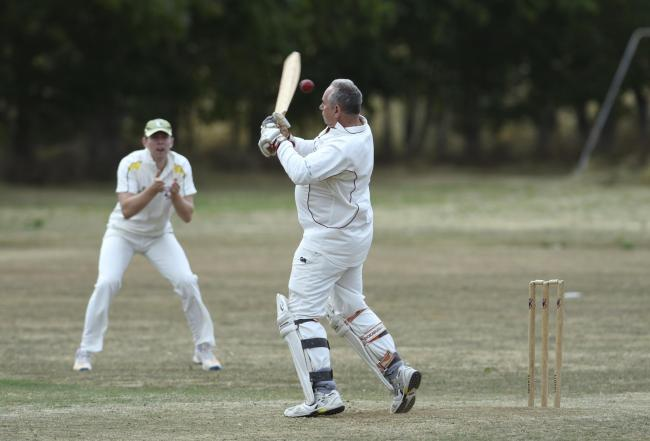 Stanton Harcourt batsman Chris Pascoe struggles to cope with this awkward delivery during their OCA League Division 2 game against Wantage. Harcourt won the 