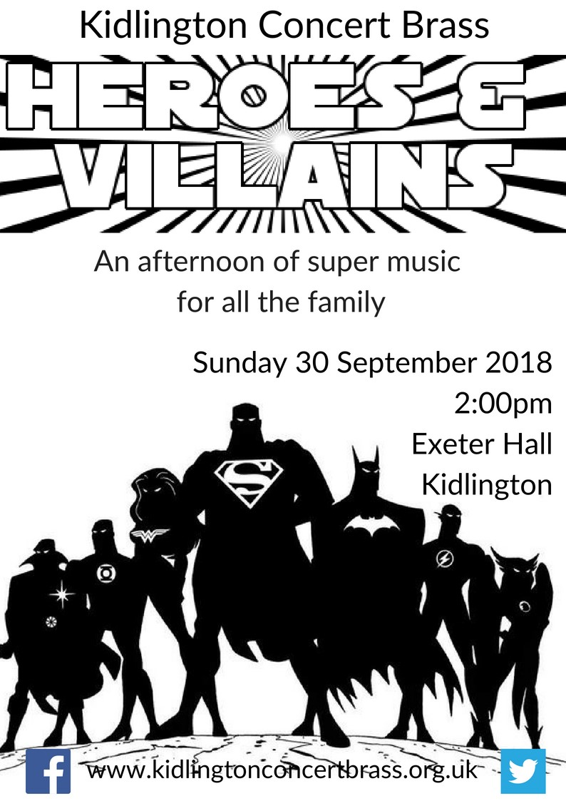 Heroes & Villains Family Concert with Kidlington Concert Brass
