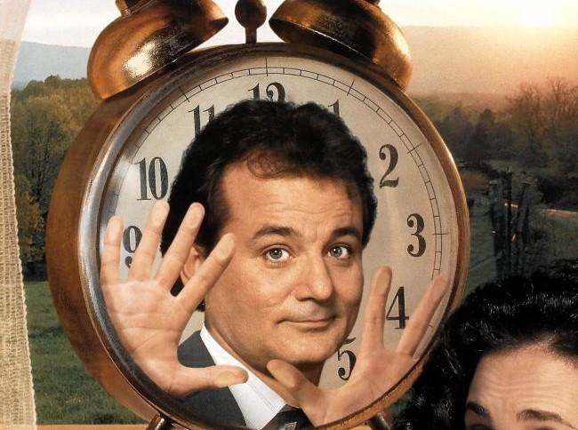 Bill Murray on the cover of Groundhog Day