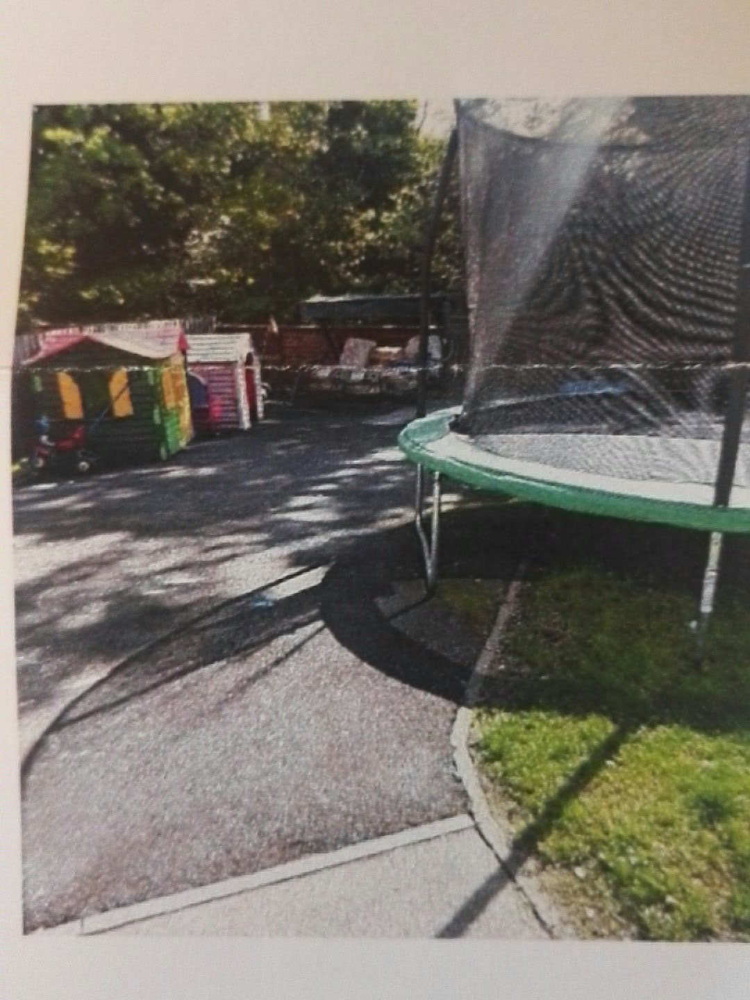 The trampoline in question