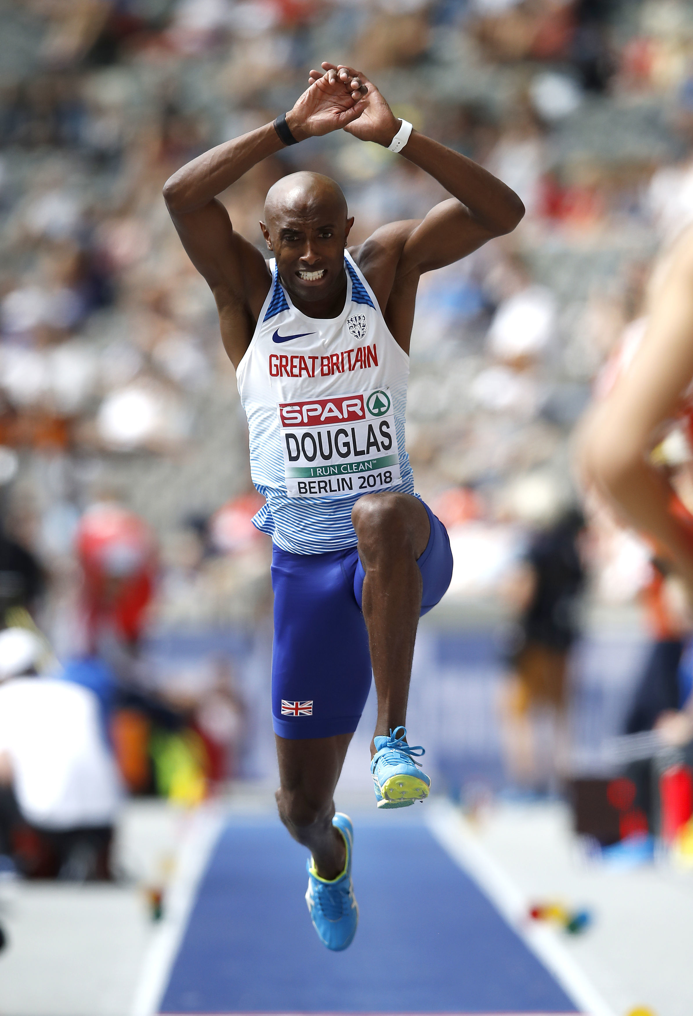 Oxford City's Nathan Douglas reached the European Championships final with an effort of 16.56m Picture:  Martin Rickett/PA Wire