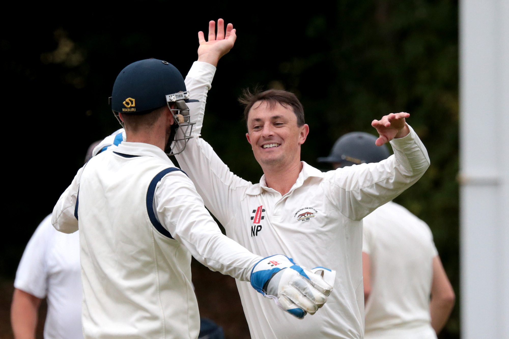 Tiddington's Nick Pykett celebrates bowling Cumnor's James Lee in their Division 1 game Picture: Ric Mellis