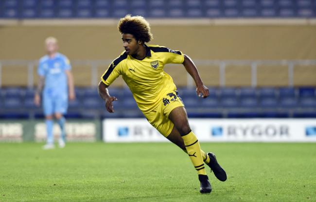FIRST STEPS: Fabio Lopes came on as a substitute for his Oxford United senior debut on Tuesday      Picture: David Fleming