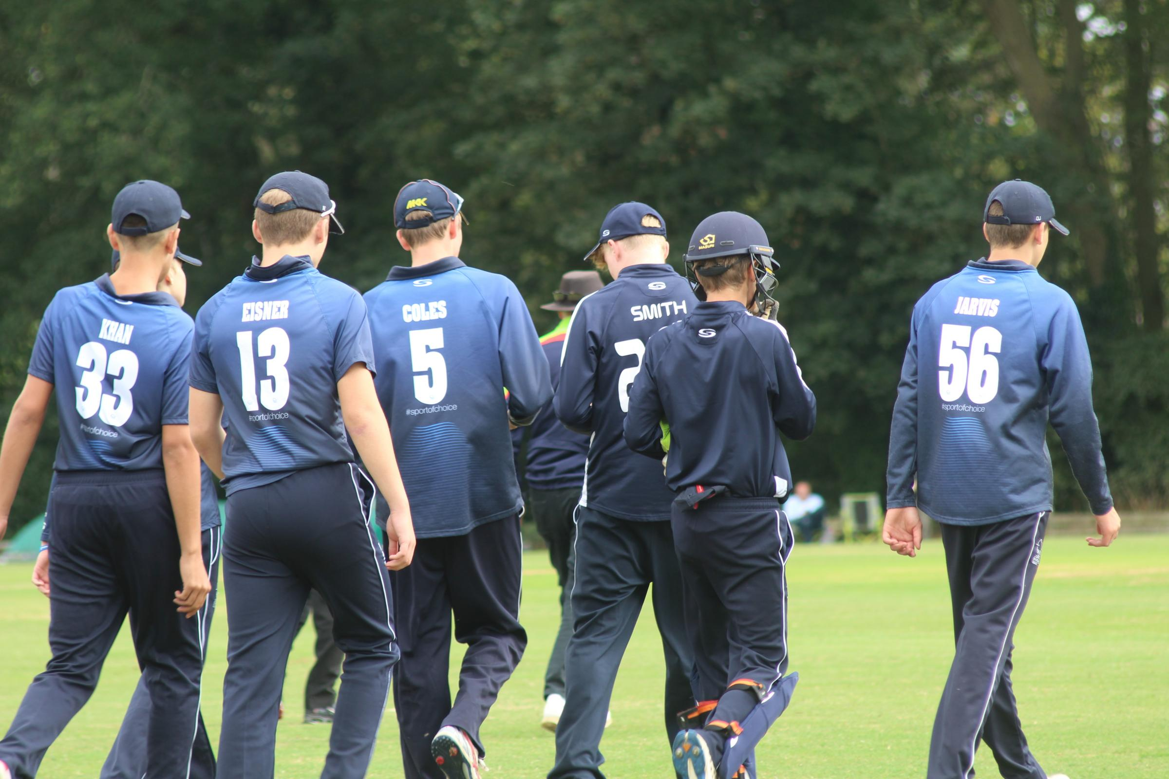 Oxfordshire Under 15s leave the field following their semi-final victory over Sussex