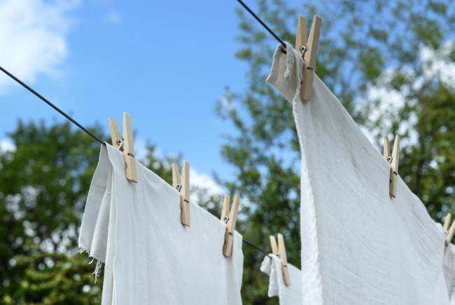 Washing line file photo