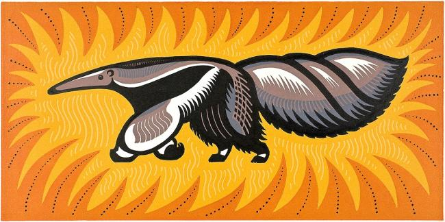YES IT'S A GIANT ANTEATER: but that's art