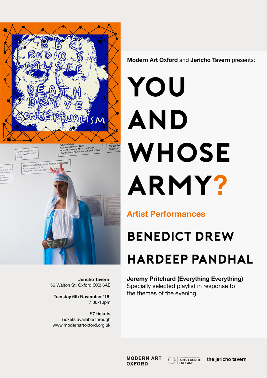 Modern Art Oxford and Jericho Tavern presents: You and Whose Army?