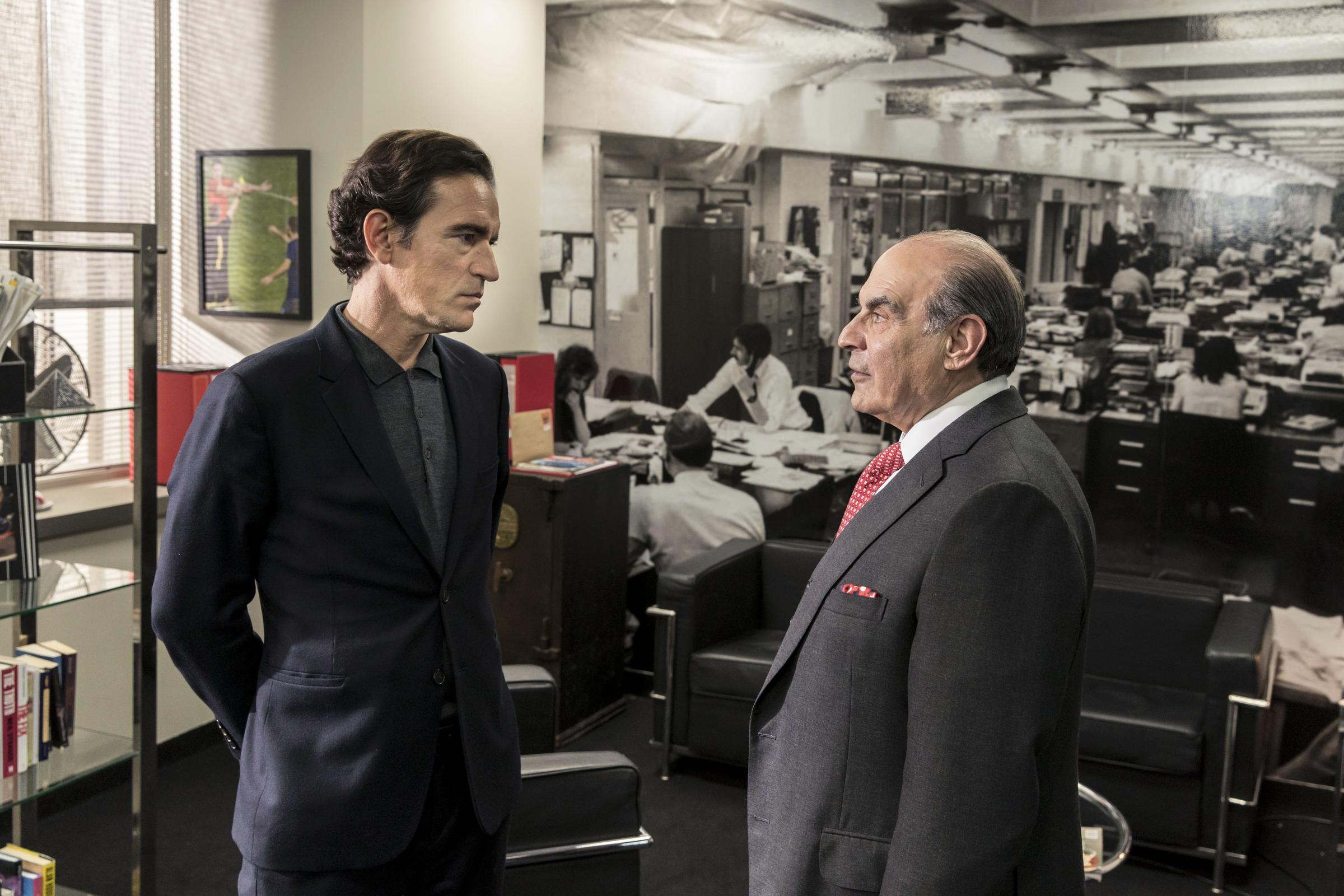 Ben Chaplin and David Suchet in TV drama Press