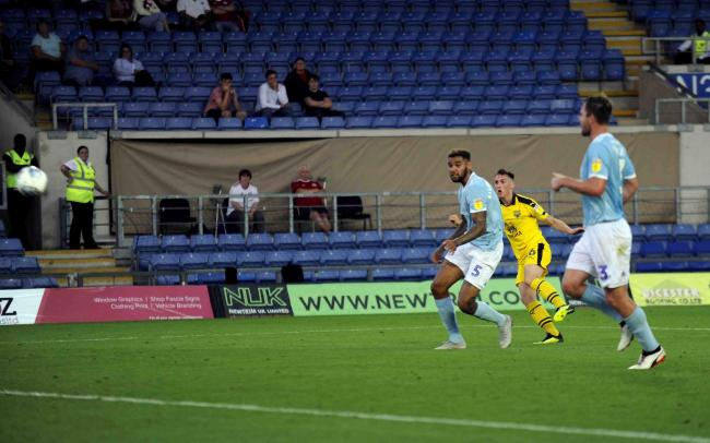 Gavin Whyte opens the scoring for Oxford United  Picture: David Fleming