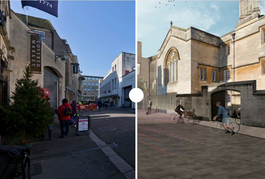 Before and after - how Oxford's new 'Market Quarter' will look
