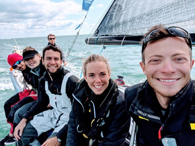 The members of Oxford University Yacht Club's crew Picture: J2 Communications