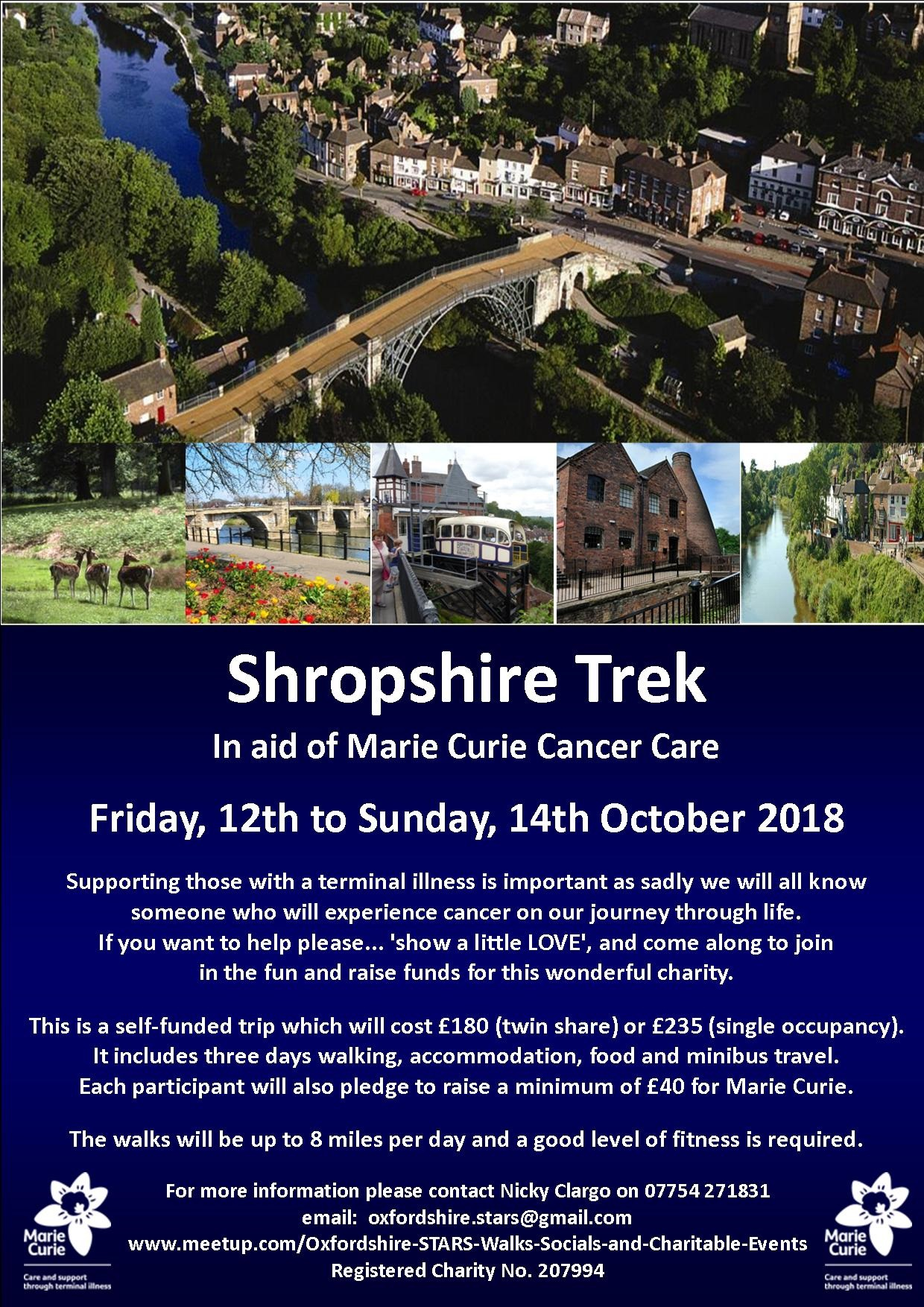 Shropshire Trek in aid of Marie Curie Cancer Care