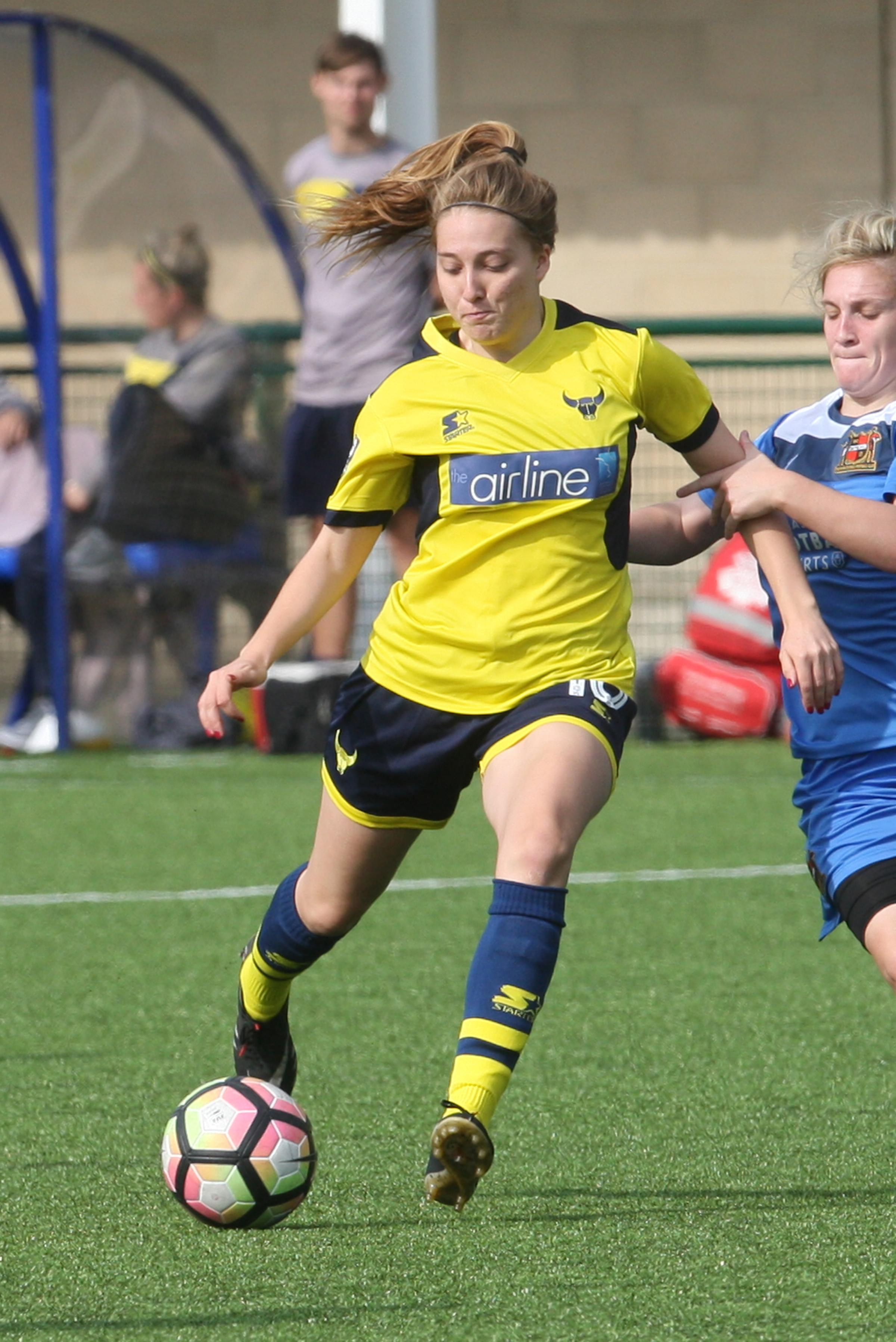 Ellie Noble hit double for Oxford United