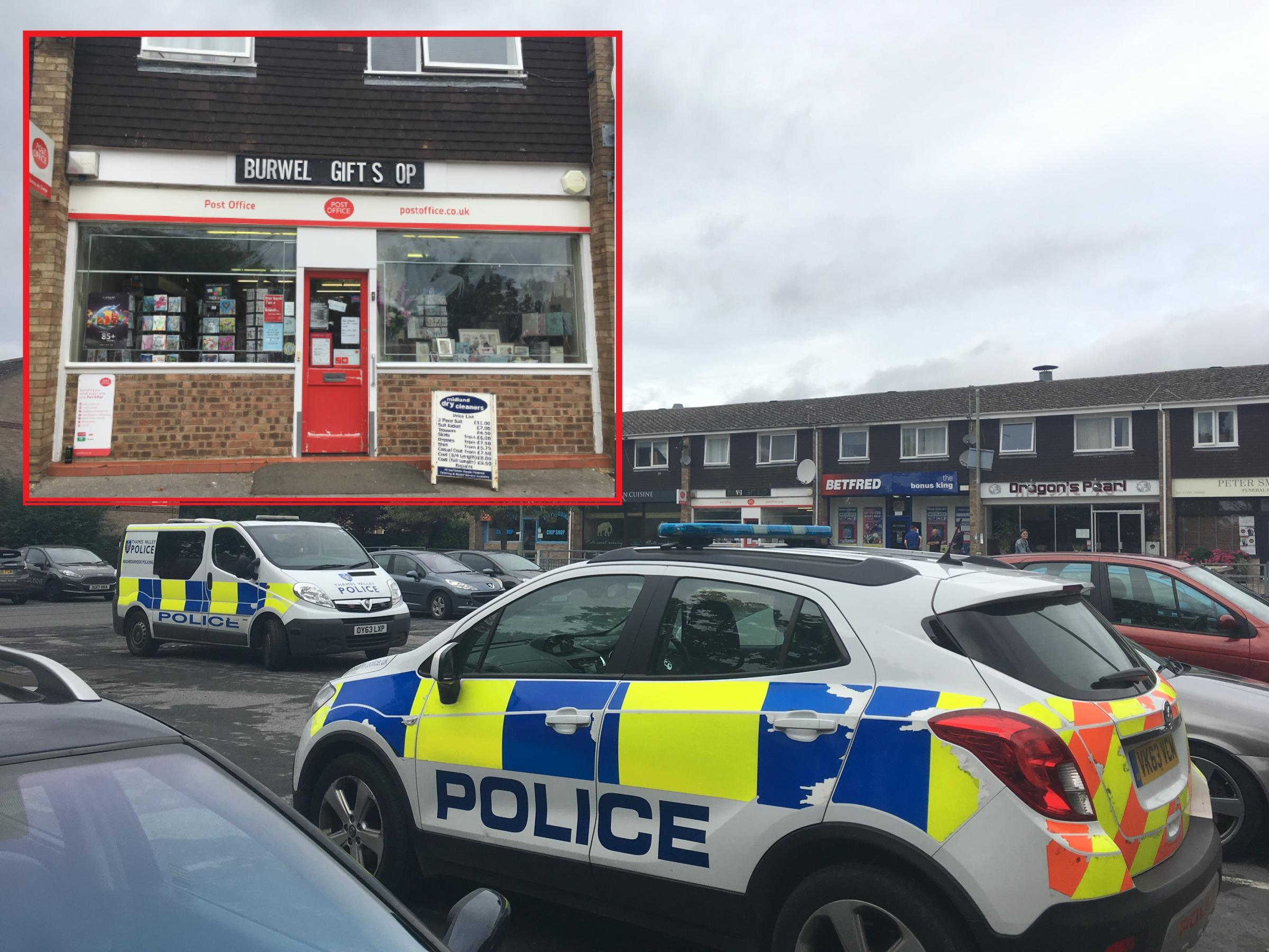 Police at Burwell Drive shops in Witney. Pics: Harrison Jones