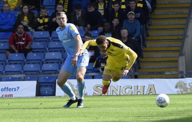 Marcus Browne is brought down by Jordan Shipley in the first half  Picture: David Fleming