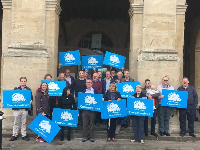 James Frederickson launches his campaign for Abingdon and West. Picture: Oxfordshire Conservatives