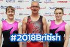 NATIONAL LEVEL: Carterton trio (from left) Kate Dela, Colin Rigby and Rebecca Rigby