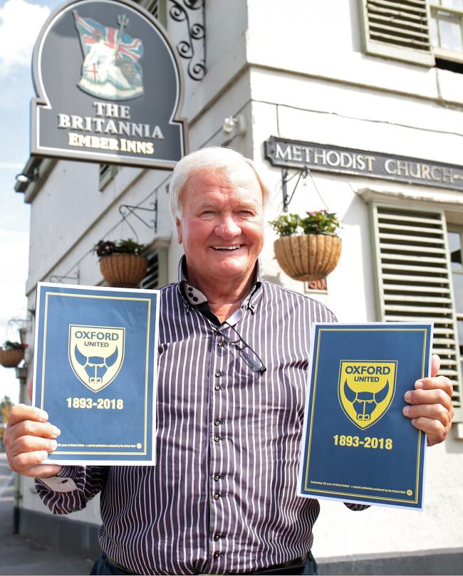 ANNIVERSARY: Ron Atkinson launches the Oxford Mail's special 125-year magazine back where it all started for Oxford United – outside the old Manor Ground at the Britannia Inn in HeadingtonPicture: Ric Mellis