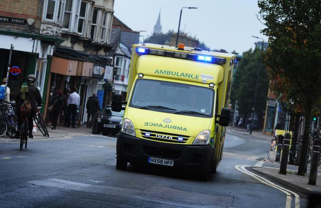 File image of a SCAS ambulance in Oxford. Picture Jon Lewis
