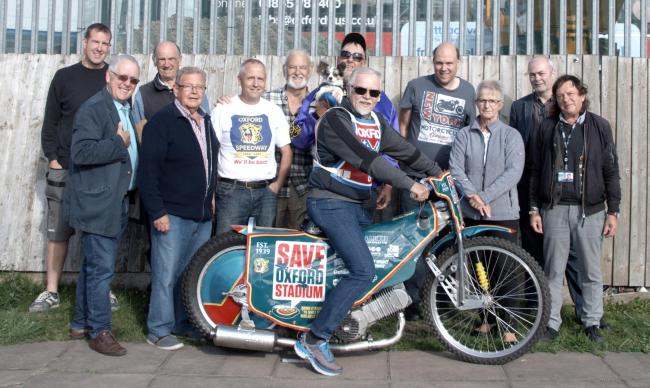 Fans meet former international motorcycle speedway rider Dag Lovaas at Oxford Stadium. Picture by Keith Lawson