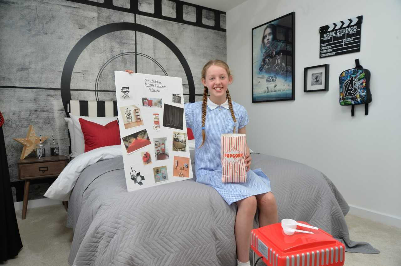WINNER: Nancy Christensen in the show home bedroom she designed