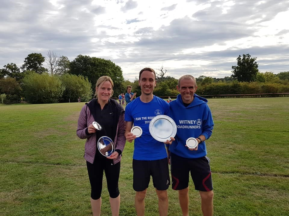 Witney RR's (from left) Lisa Butler, Sam Upton andTony Lock at the Pangbourne 10k Picture: Jen Horseman