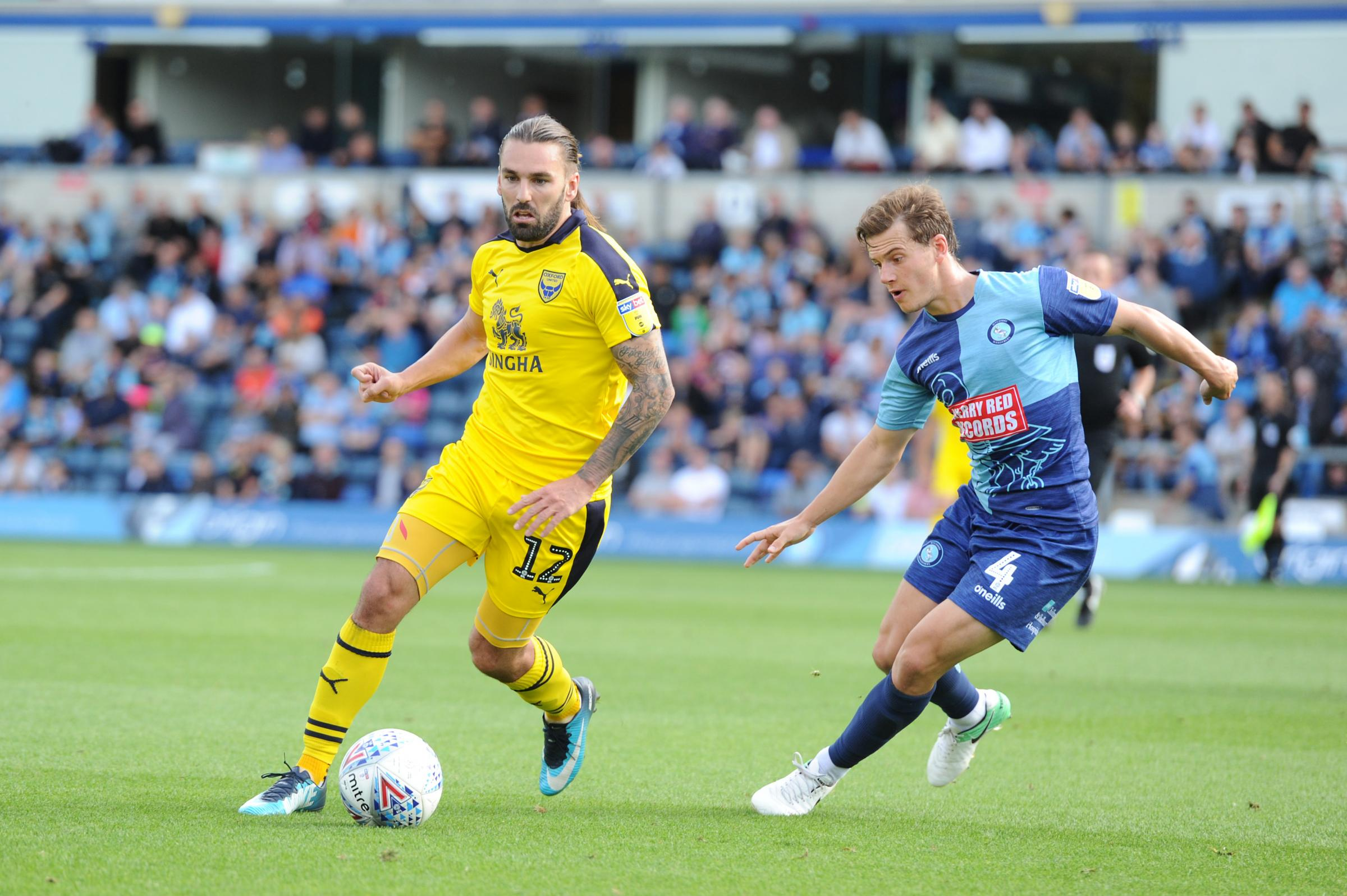 DISPLAY: Ricky Holmes in action against Wycombe Wanderers last weekend            Picture: Jon Lewis
