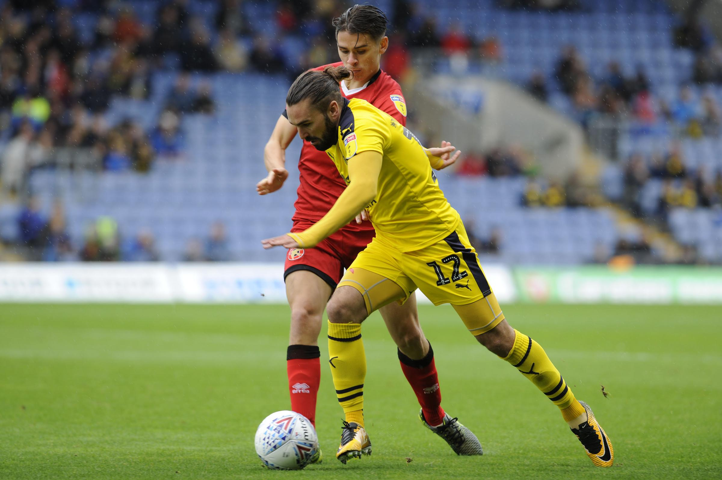 Ricky Holmes on the charge for Oxford United against Walsall  Picture: David Fleming