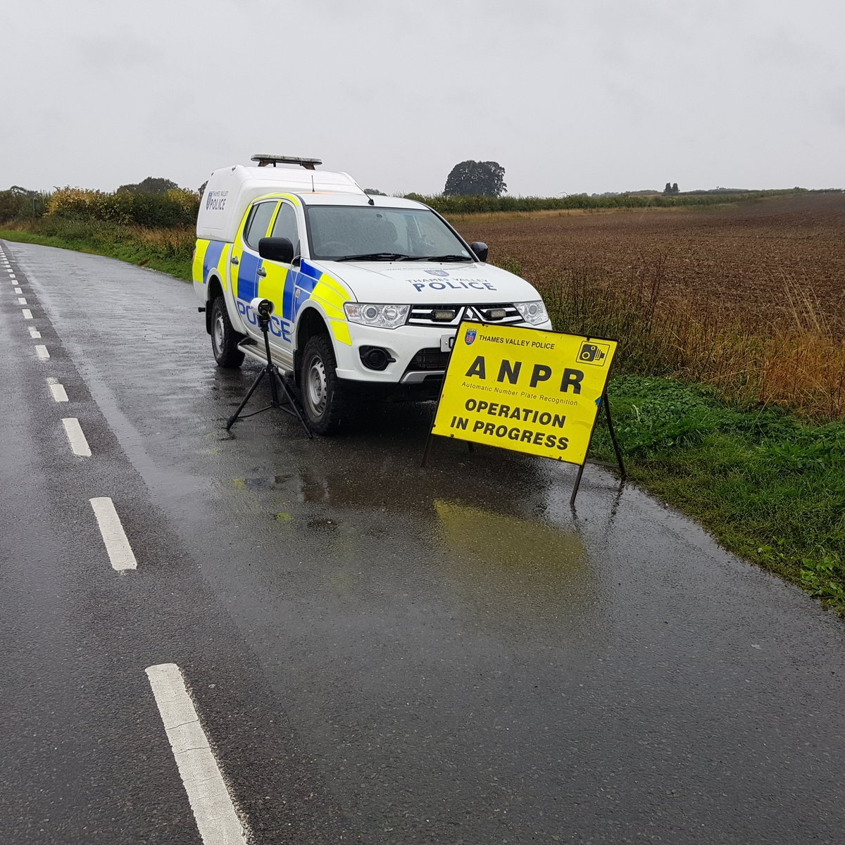 TVP Kidlington shared this image of police patrolling the countryside to catch hare coursers