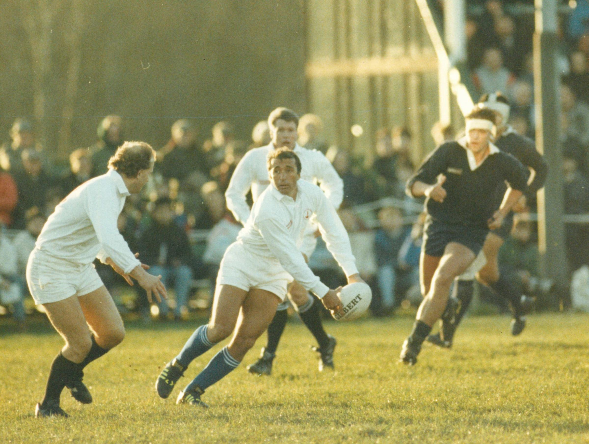 FLASHBACK: Former Argentina fly half Hugo Porta in action for Major Stanley's against Oxford University in 1989
