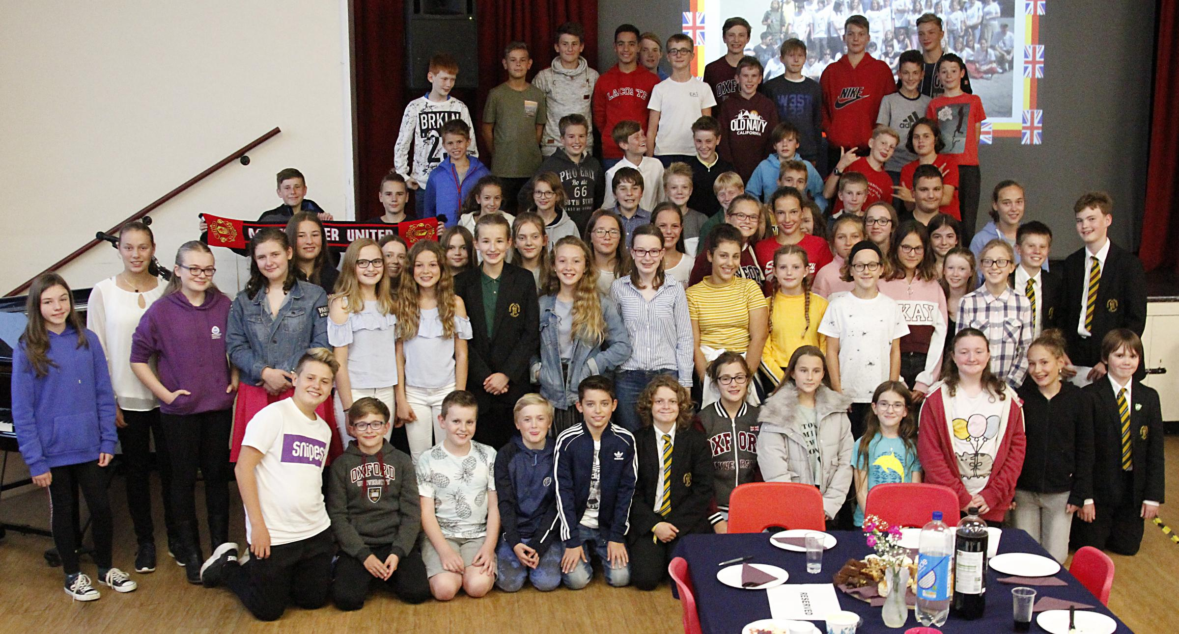 GET TOGETHER: Students from Chipping Norton School and their German Exchange partners Picture: Kieran McPhillips