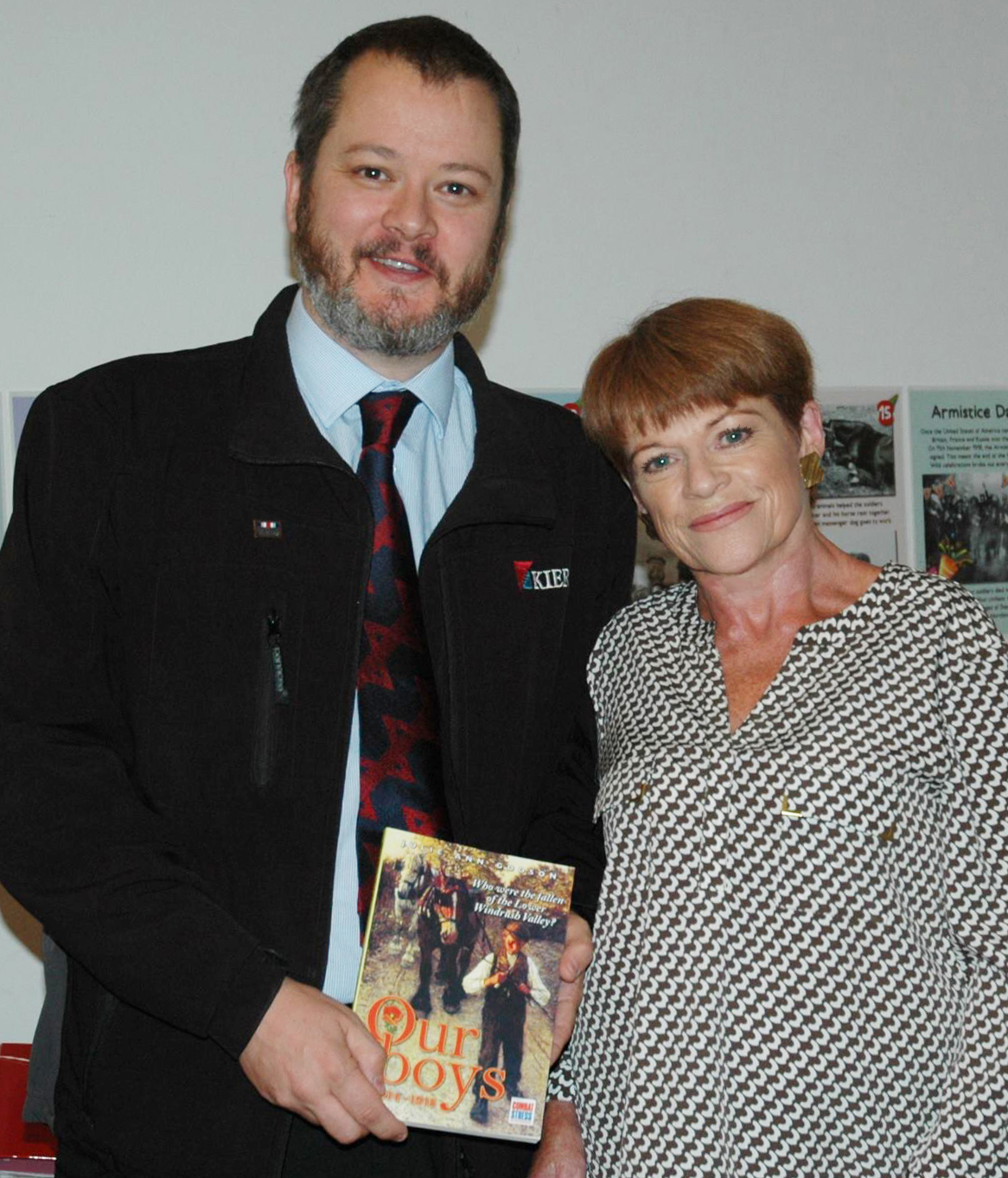 British Army veteran Nick Lockhart and local author Julie Ann Godson with her new book Picture: Julie Ann Godson