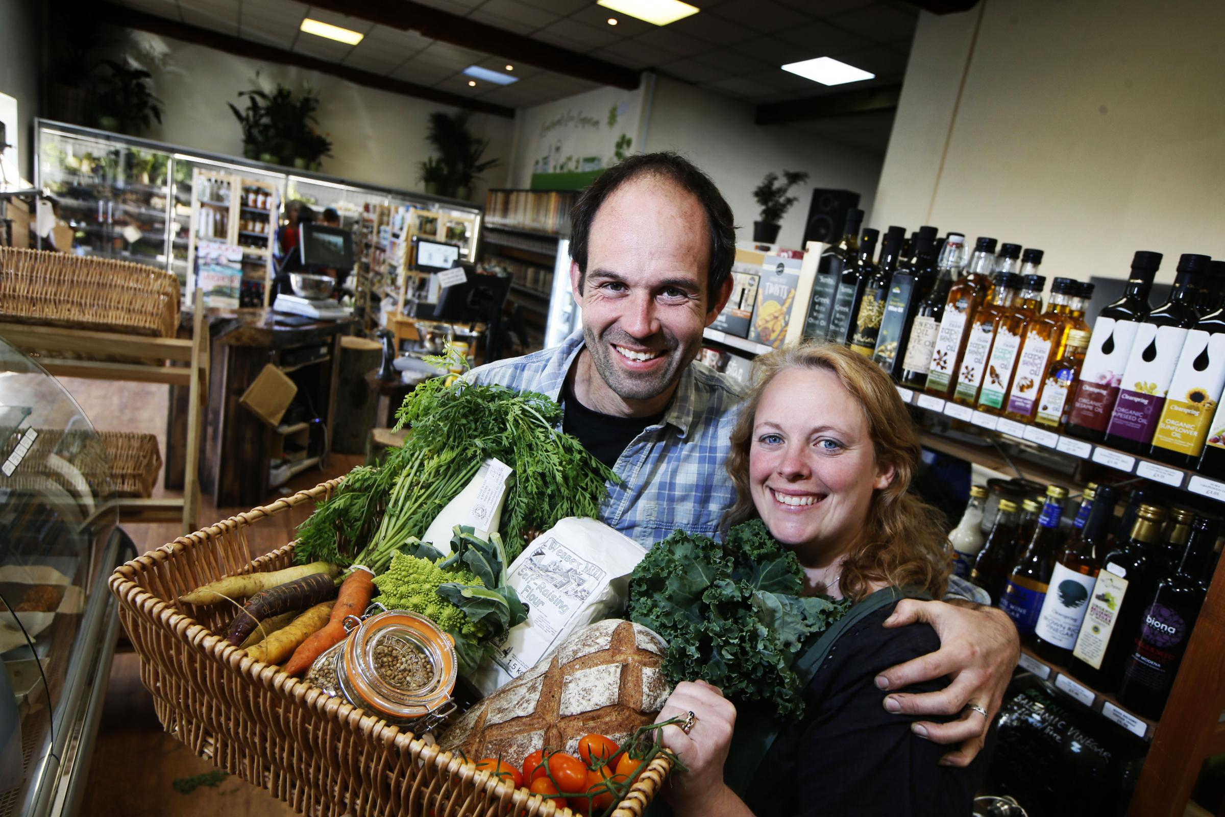 Jonathan and Lucy Bowden's Market Garden has returned to Eynsham Emporium, where they started selling food in the car park nine years ago Picture: Ed Nix