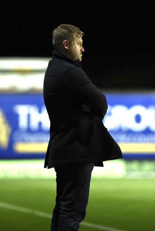 Karl Robinson at the final whistle. Picture by: David Fleming