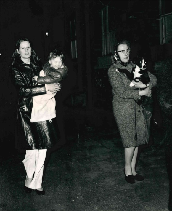 Children and pets were among those evacuated during the Oxpens bomb hoax in March 1973