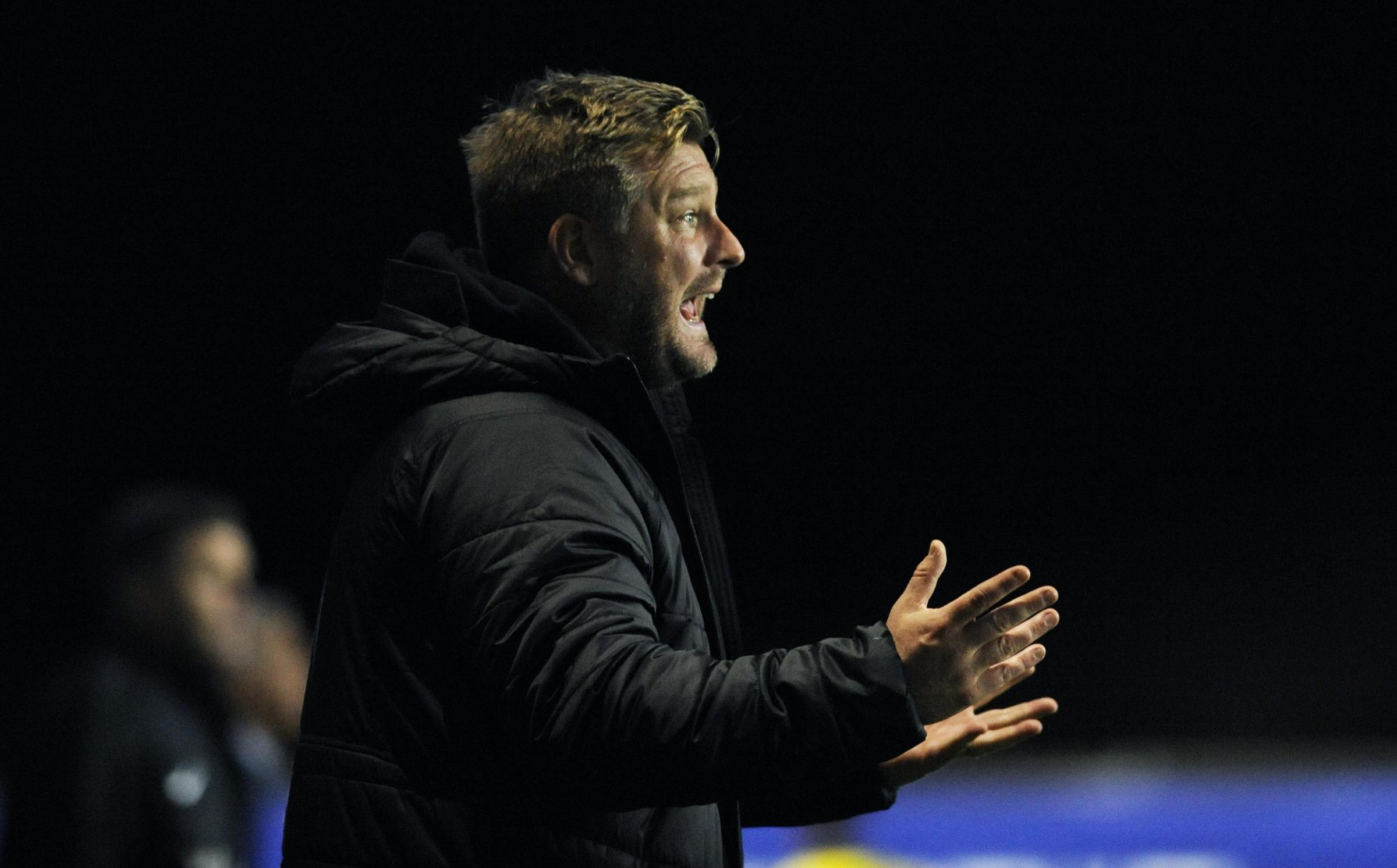 Karl Robinson during last night's defeat at home to Northampton Town in the Checkatrade Trophy Picture: David Fleming