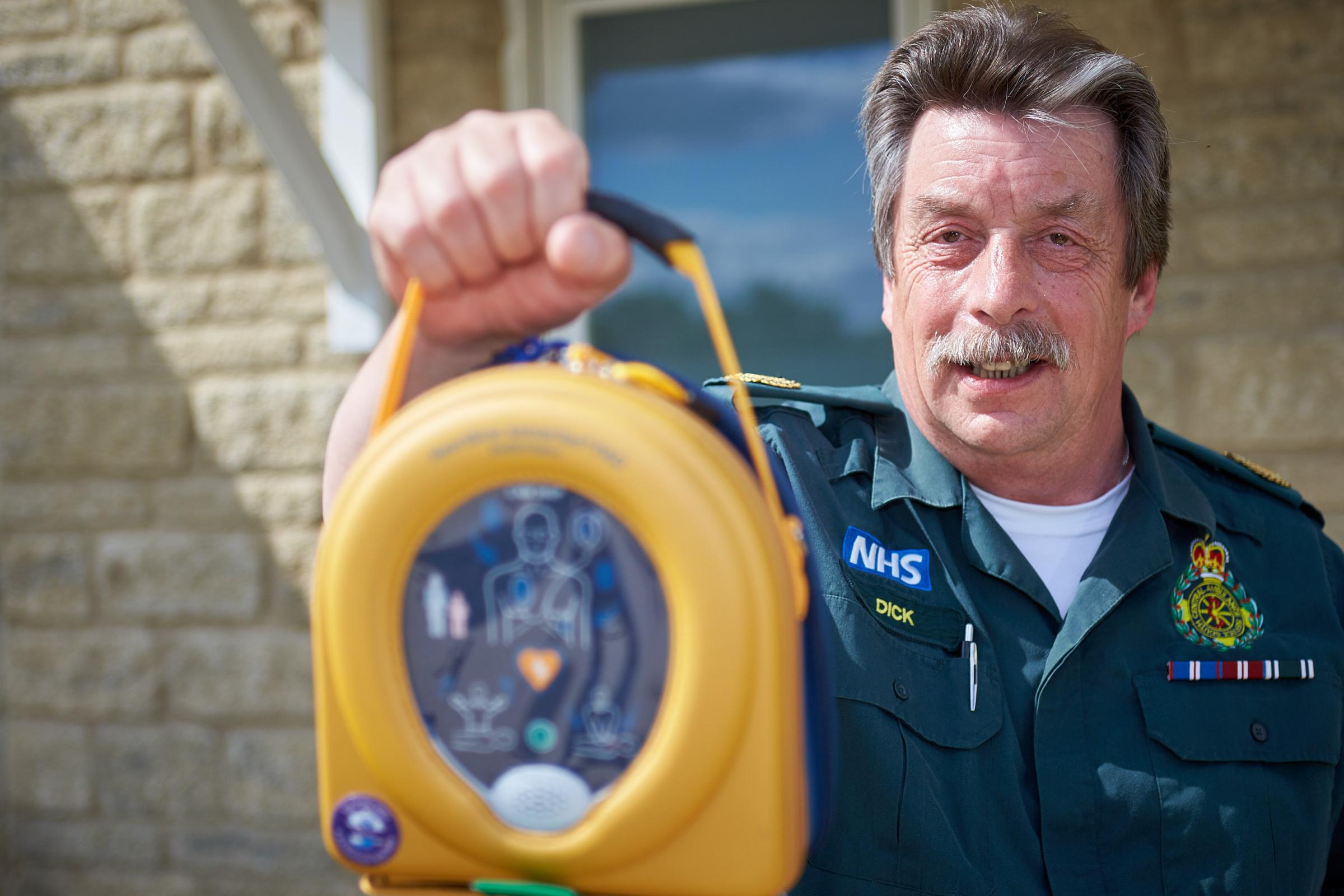 Dick Tracey, known as Mr Defibrillator. Picture Cliff Hide
