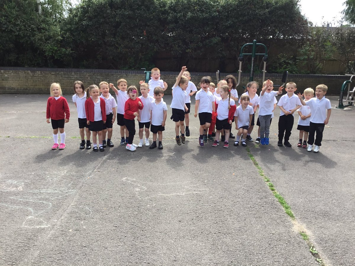 SUCCESS: Queen Emma's Primary School pupils pictured earlier this year Pic: Twitter/QES_primary