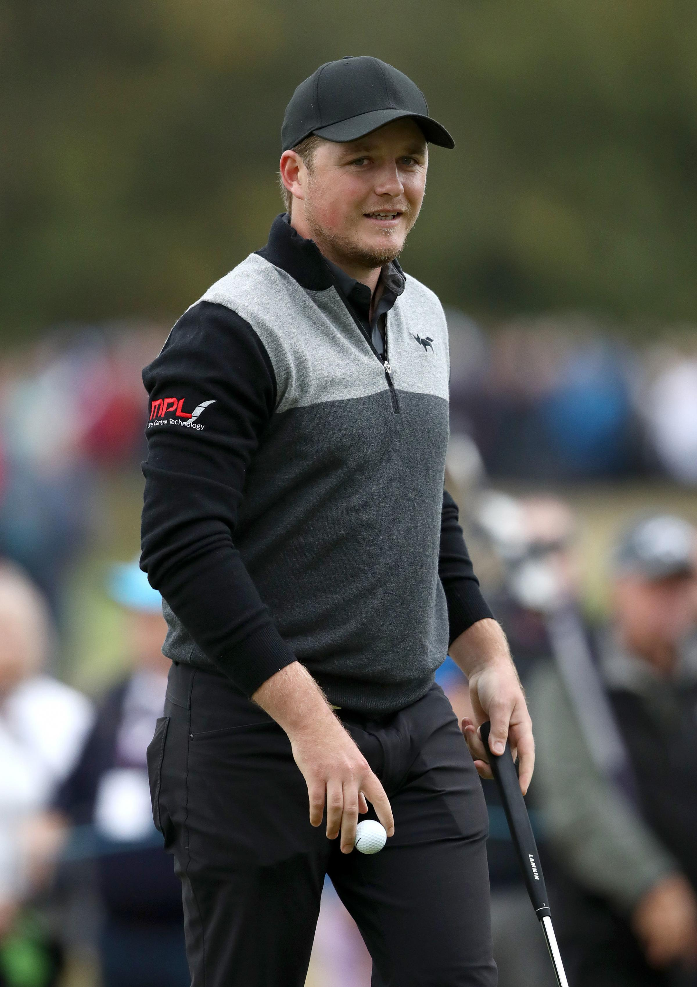 Eddie Pepperell in action at Walton Heath today. Picture: John Walton/PA Wire