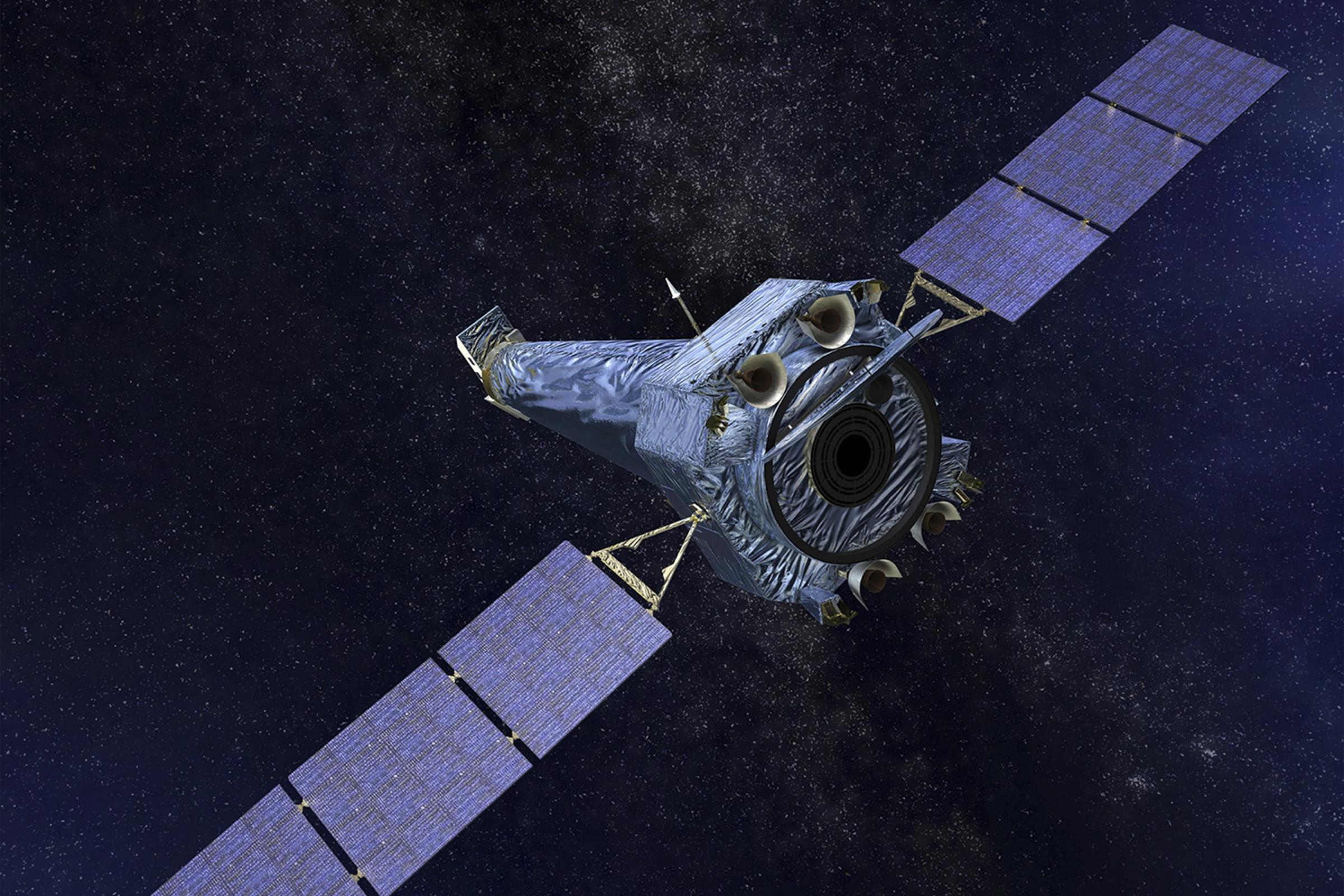 Illustration showing the Chandra X-ray Observatory