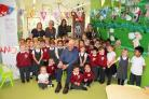St Edburg's School reception children in Butterworth class with their namesake Nick Butterworth