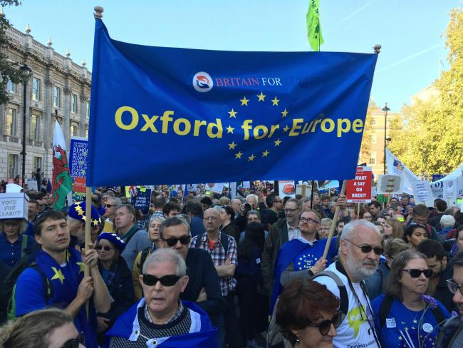 Four buses were organised from Oxford. Picture: Oxford For Europe
