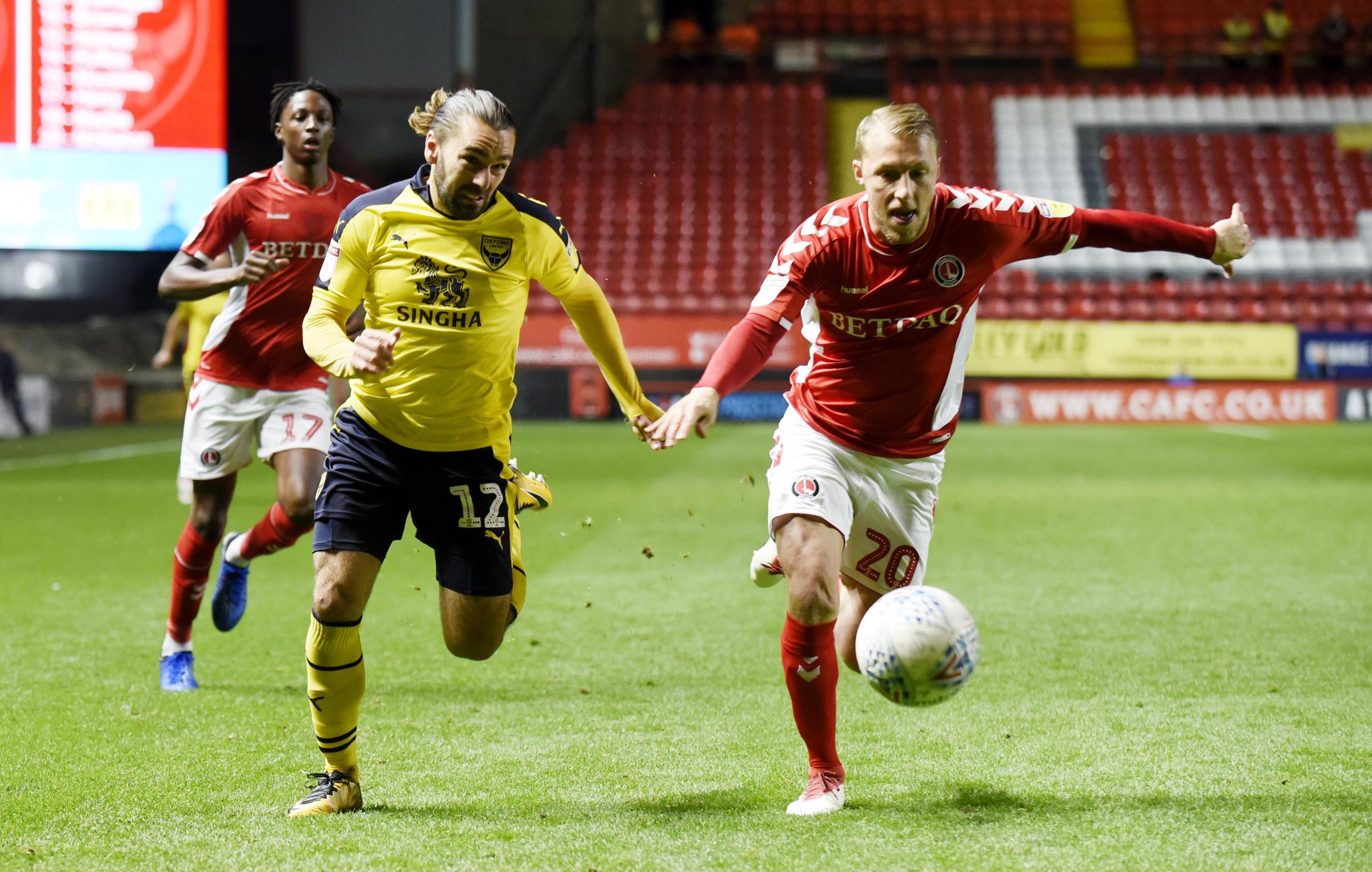 Ricky Holmes was a surprise starter for Oxford United at the Valley  Picture: David Fleming
